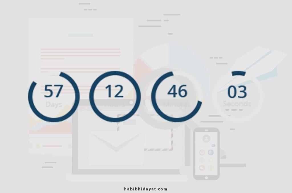 Count Down Waktu Penjualan Email Marketing