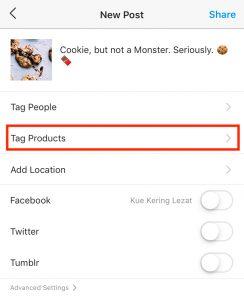 Tag Produk di Feed Instagram